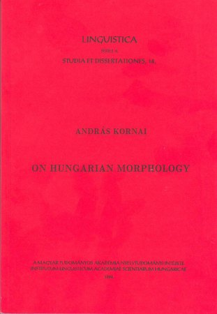 András Kornai: On hungarian morphology